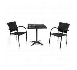 Набор мебели (иск. ротанг) Siena-2 T-159В / Y-272- BLACK