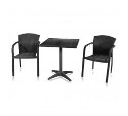 Набор мебели (иск. ротанг) Milano-2 (T-159B Y-95) BLACK