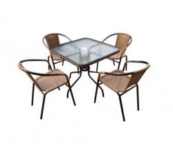 Набор мебели Николь-2А (иск. ротанг) капучино