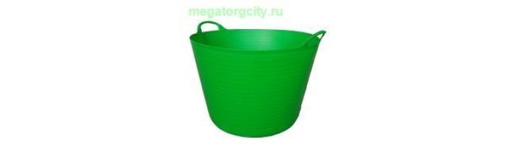Корзина пластиковая Helex 42л. зеленый