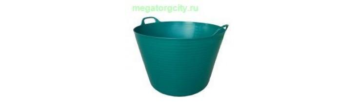 Корзина пластиковая Helex 60л. темно-зеленый