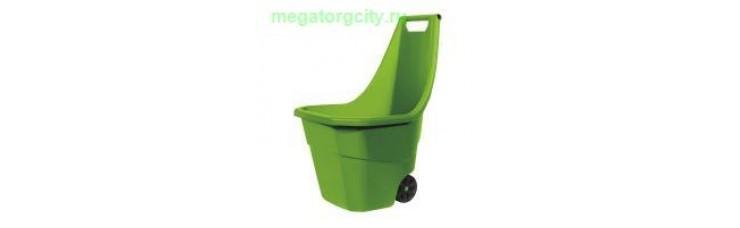 Садовая тележка Prosperplast Load  Go 55л. оливковый
