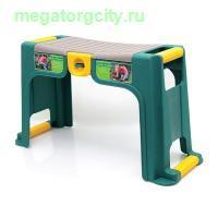 Скамейка-перевертыш садовая Helex с органайзером. зеленый желтый
