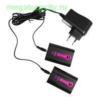 Комплект 2 литиевых аккумулятора и зарядное устройство для перчаток Pekatherm