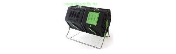 Компостер вращающийся Helex двойной 2х105л. черный зеленый