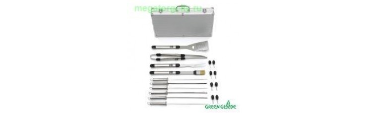 Набор для гриля Green Glade SC007 18 предметов в чемодане