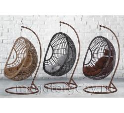 Плетеное подвесное кресло Османтус (300A) 124х98х72 см