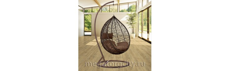 Плетеное подвесное кресло Камелия (168A-XL) 127х112х73 см
