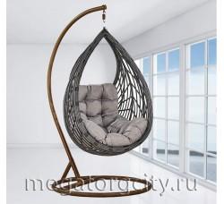 Плетеное подвесное кресло Капля (N886-W72) 128х89х76 см коричневое