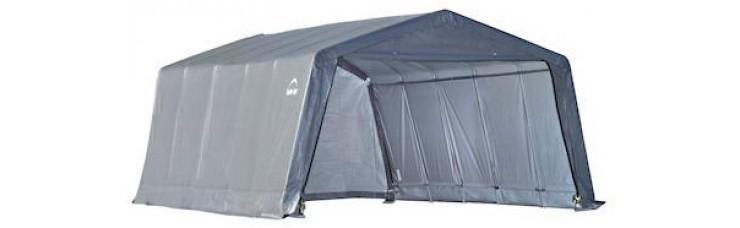Тент для Гаража 3,7x6,1x2,4м ShelterLogic, цвет серый