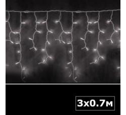 Световая бахрома 3х0,7 м белый