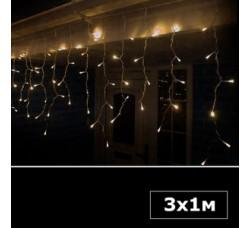 Светодиодная бахрома 3х1 м теплый белый