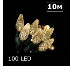 LED гирлянда Шишки 10м белый