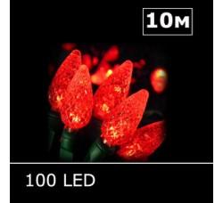 LED гирлянда Шишки 10м красный