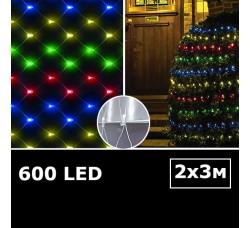 LED сетка с одинарными светодиодами 2х3м RGBY с контроллером