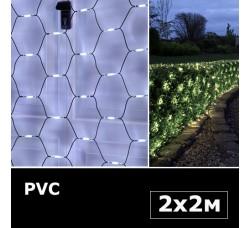 Сетка с двойными светодиодами 2х2м белый