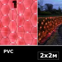 Сетка с двойными светодиодами 2х2м красный