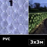 Сетка с двойными светодиодами 3х3м белый