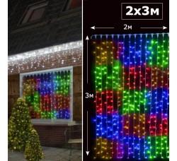 Светодиодный занавес с контроллером 2х3 RGBY